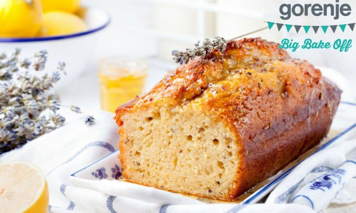 GBBO Lavender and lemon drizzle cake