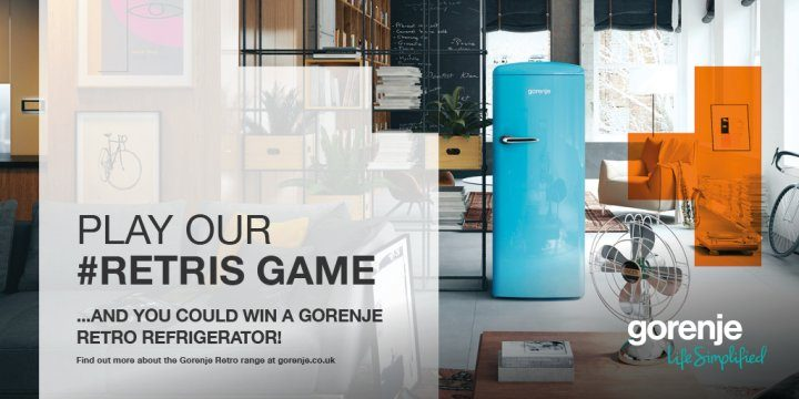 Play #Retris and you could win a Gorenje Retro refrigerator!