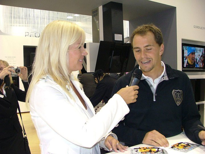 Biathlon World Champion Michael Greis visits Gorenje exhibition area