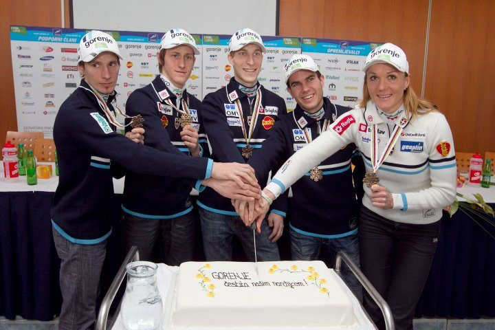 Slovenian ski jumpers won bronze in Oslo