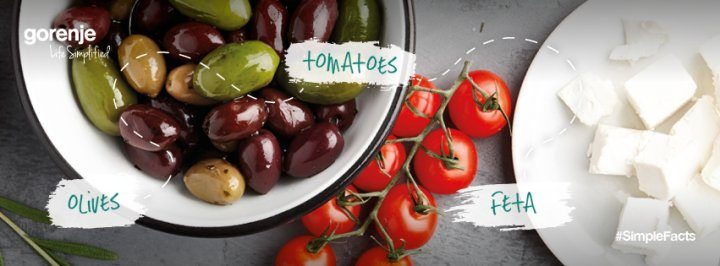 #SimpleFacts food board – Olives, tomato and feta