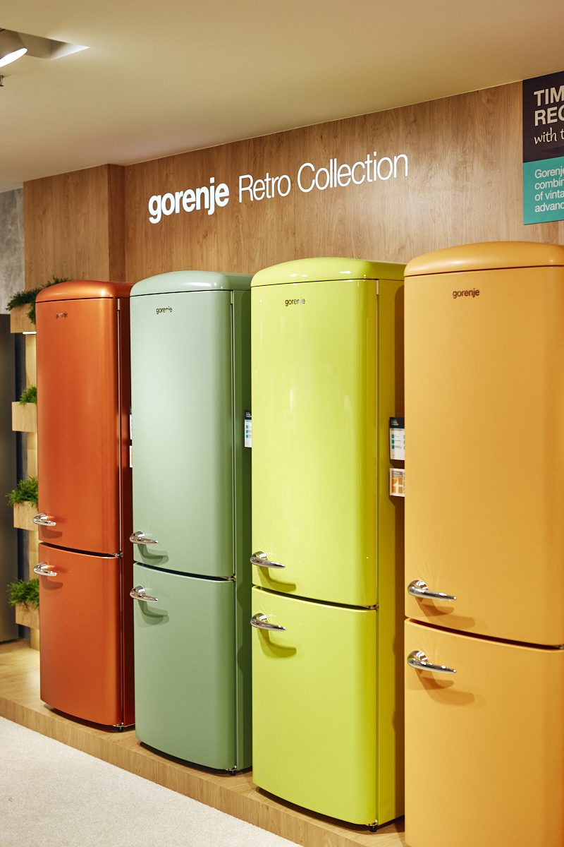 fresh new colours in the gorenje retro collection gorenje group. Black Bedroom Furniture Sets. Home Design Ideas