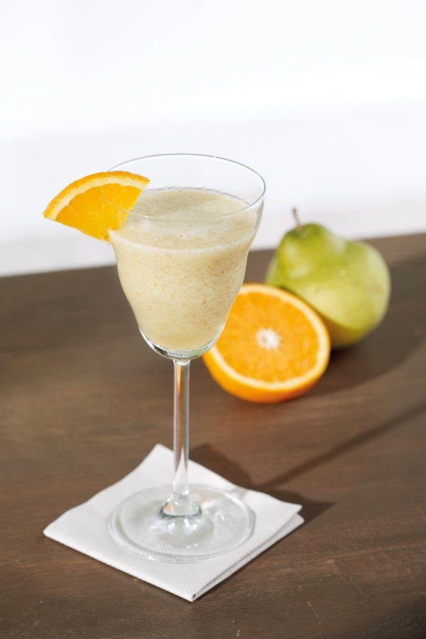 Alcohol-free pear cocktail
